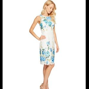 Maggie London Floral Lace Sheath Dress